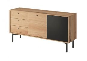 Obývacia komoda Preston (3x zásuvka, dub)