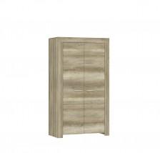 Obývacia skriňa Sky - 2x dvere, ABS (country sivá)