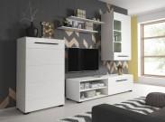 Obývacia stena Britta (biely mat)