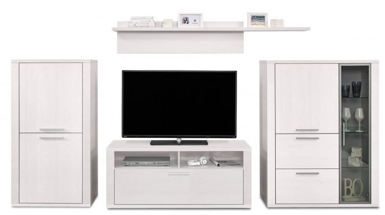 Obývacia stena Cool - Obývacia stena 327305 (smrekovec biely/smrekovec biely)
