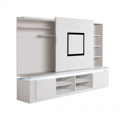 Obývacia stena Diva - TV stena (biela/čierna)