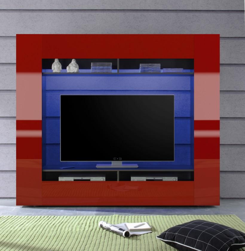 Obývacia stena Evito X3 (Antracit/červená)