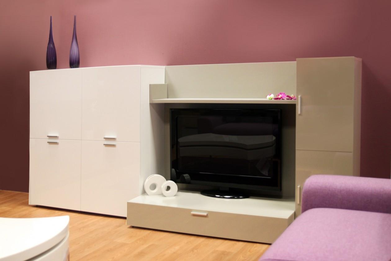 Obývacia stena Fizzy 05 (Bianco/Titanio)