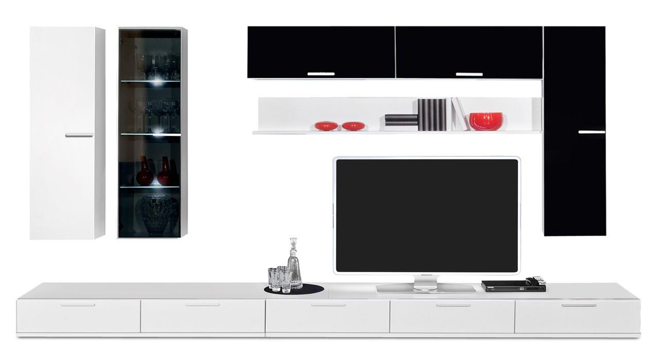 Obývacia stena Game - obývacia stena 347215 (biela/čierna)