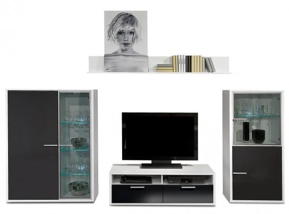 Obývacia stena Game - obývacia stena 3472259 (biela/čierna)