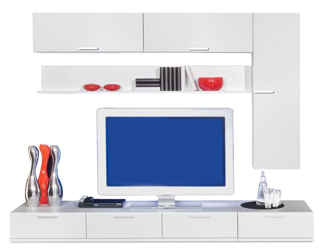 Obývacia stena Game - obývacia stena 347270 (biela/biela)