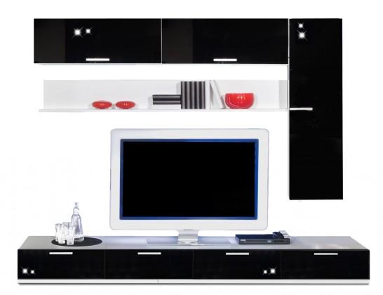 Obývacia stena Game - obývacia stena 3472759 (biela/čierna)