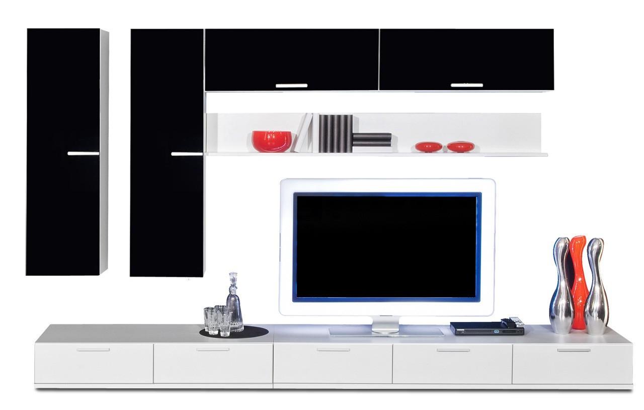 Obývacia stena Game - obývacia stena 347316 (biela/čierna)