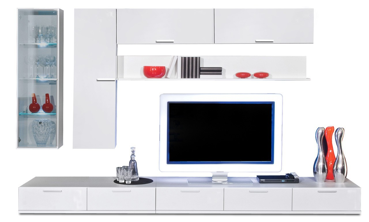 Obývacia stena Game - obývacia stena 347325 (biela/biela)