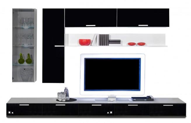 Obývacia stena Game - obývacia stena 3473269 (biela/čierna)