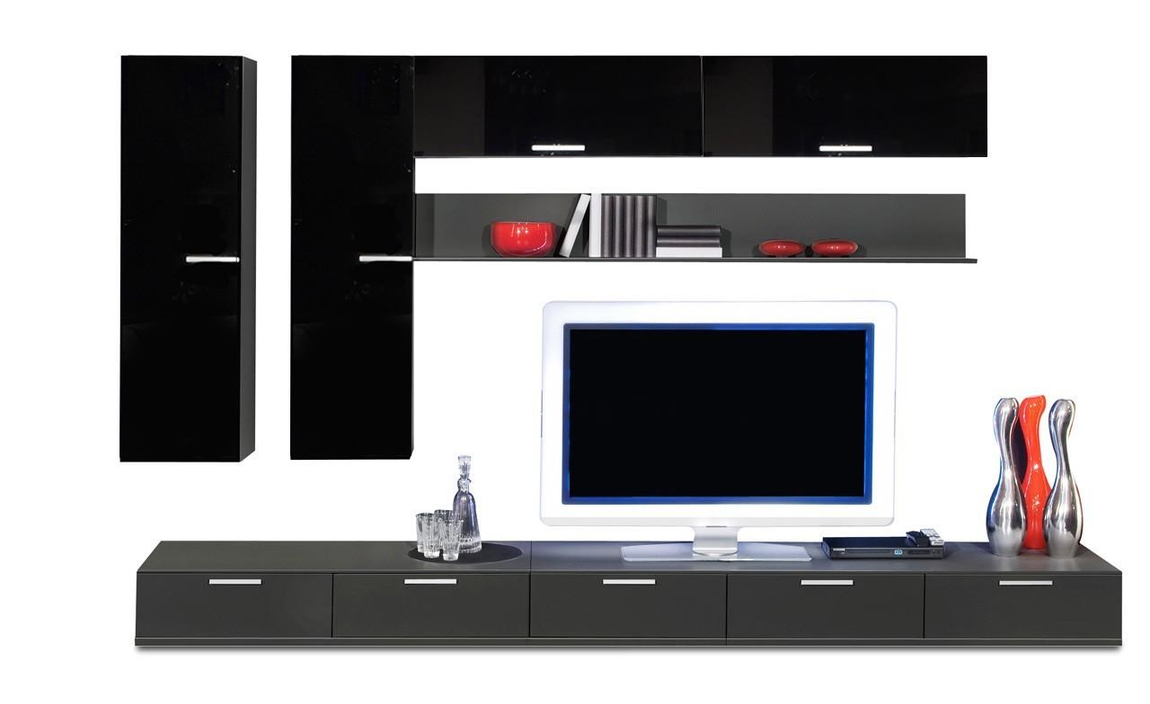 Obývacia stena Game - obývacia stena 349316 (čierna/čierna)