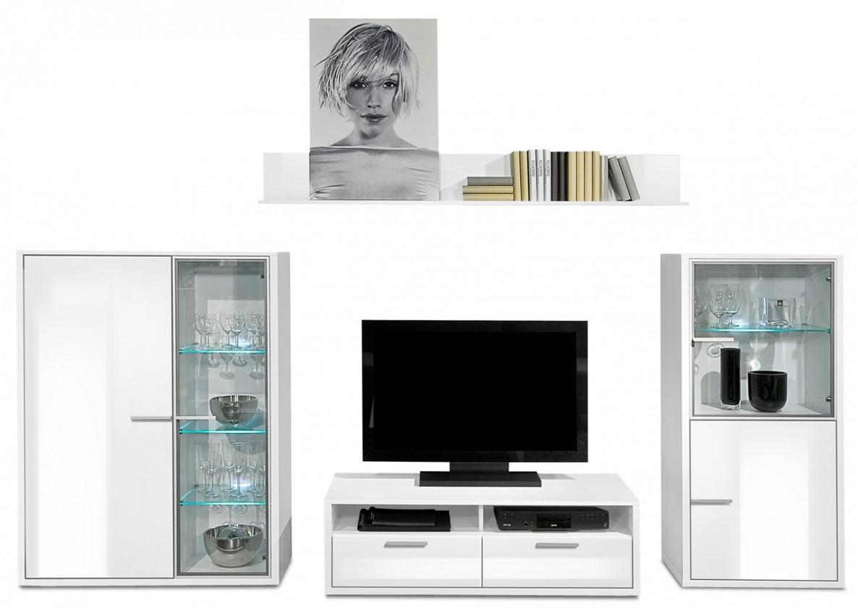 Obývacia stena Game plus - obývacia stena 3472257 (biela/biela lak HG)