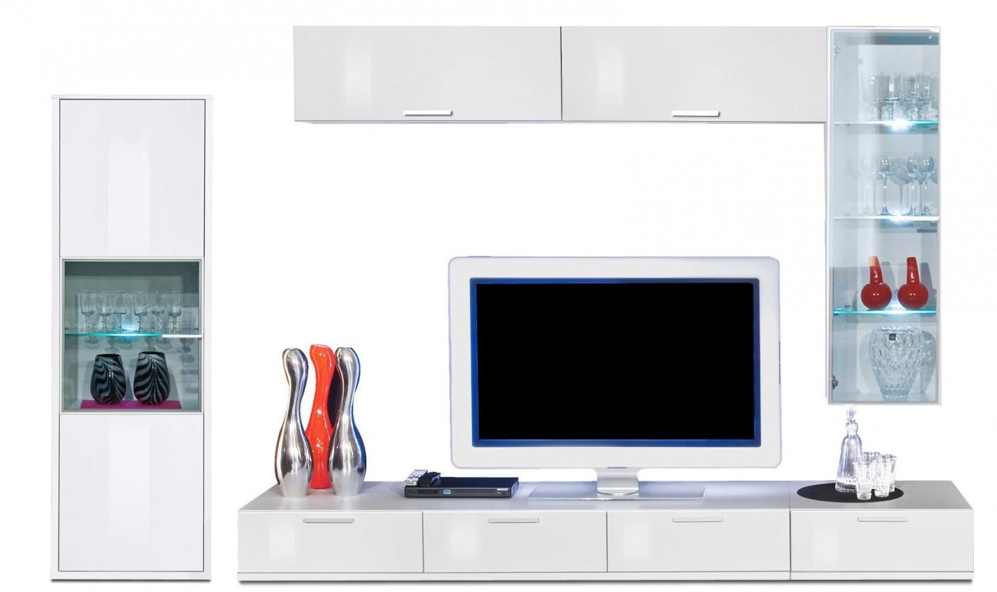 Obývacia stena Game plus - obývacia stena 3472457 (biela/biela lak HG)