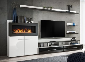 Obývacia stena Haldis (biela, čierna)
