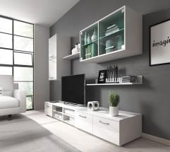 Obývacia stena Klara (biely mat/lesk)
