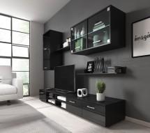 Obývacia stena Klara (černý mat/lesk)