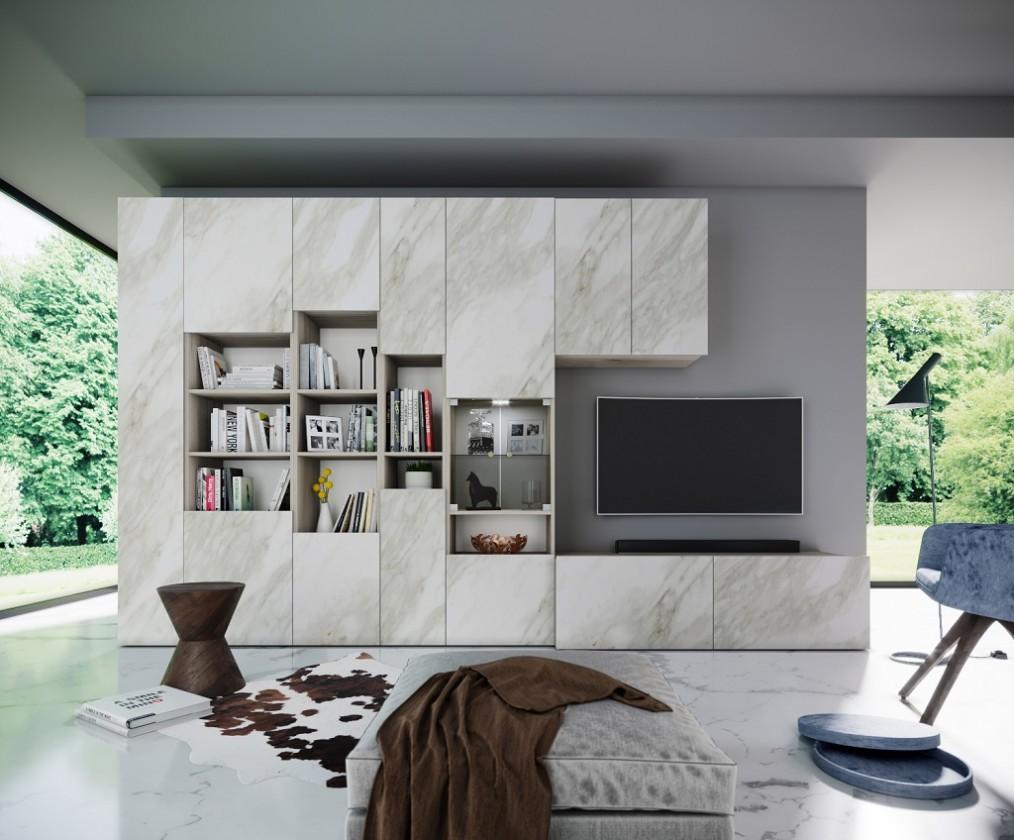 Obývacia stena Obývacia stena Arnave (sonoma arwen/biely mat)