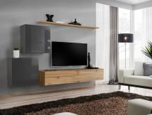 Obývacia stena Switch (dub wotan/sivá)