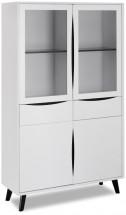 Obývacia vitrína Sens (biela, čierna)