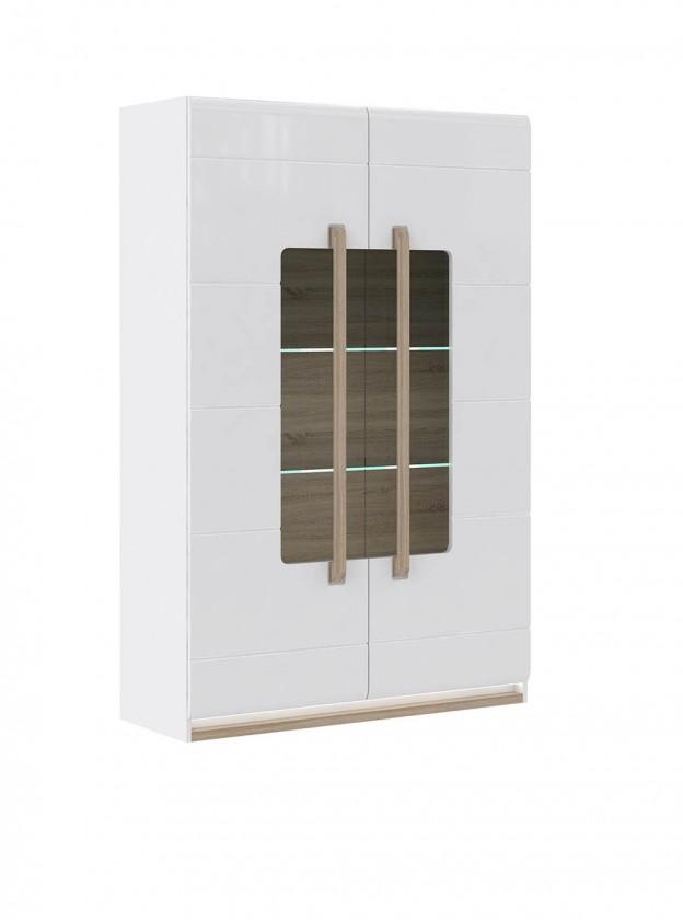 Obývacie izby ZLACNENÉ Attention-ATNV62B(P50 - biely / dub sonoma / biely lesk)