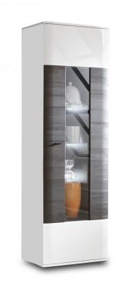Obývacie izby ZLACNENÉ Denver - Typ 11 (bílá arctic LDTD / černá strukturovaná)
