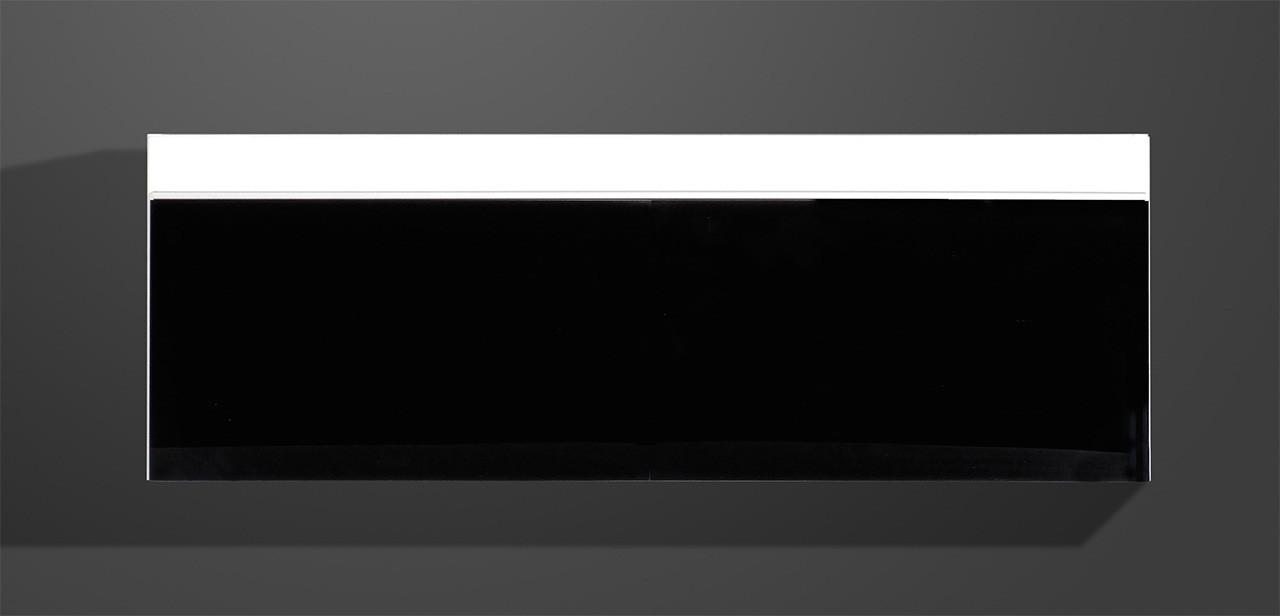 Obývacie izby ZLACNENÉ Freestyle-Závesná vitrína,(biela/čierna vysoký lesk) - II. akosť