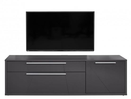 Obývacie izby ZLACNENÉ Gamble - TV stolík 570154 (antracit/antracit lesk)
