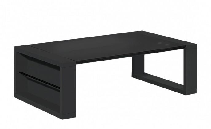 Obývacie izby ZLACNENÉ Game - Konferenčný stolík (čierna / čierna sklo)