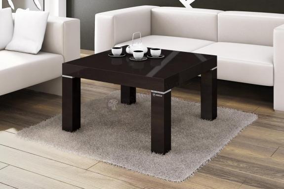 Obývacie izby ZLACNENÉ Konferenčný stolík KW 80 (čierna lesk) - ROZBALENÉ