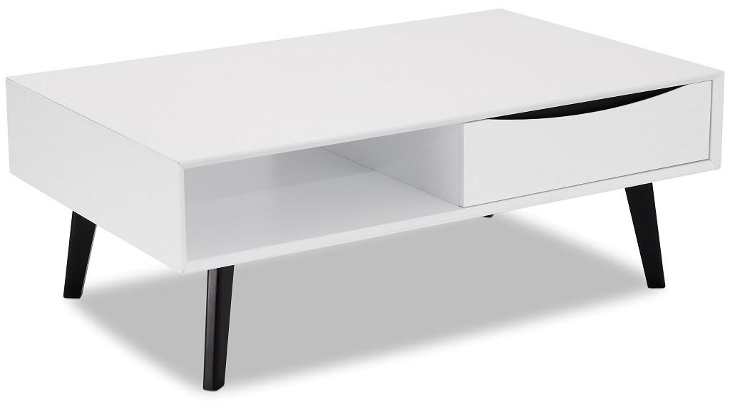 Obývacie izby ZLACNENÉ Konferenčný stolík Sens (biela, čierna) - ROZBALENÉ