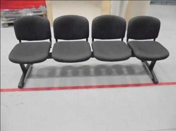 Obývacie izby ZLACNENÉ Lavica Imperia - 4 sedačka (čierna) - II. akosť