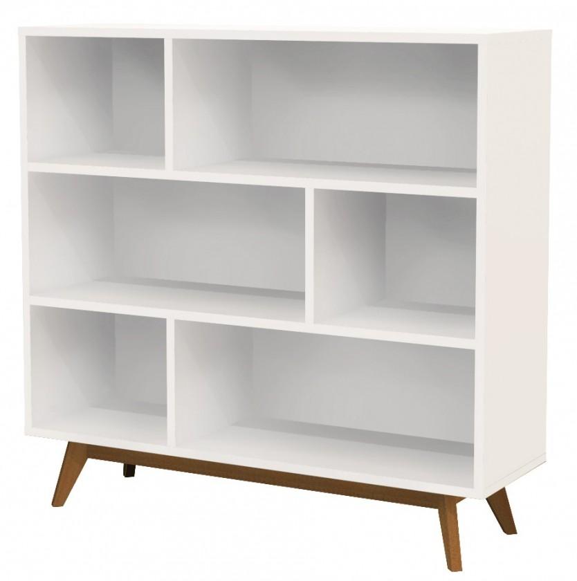 Obývacie izby ZLACNENÉ Regál BESS 2170-001(biela/dub) - II. akosť