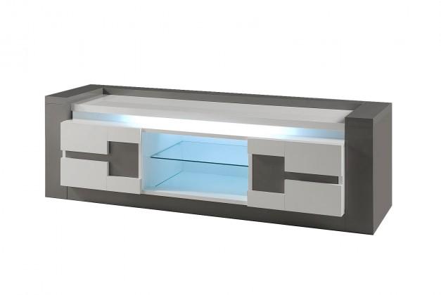 Obývacie izby ZLACNENÉ Rimini - TV stolík (tmavo sivá/sivá)