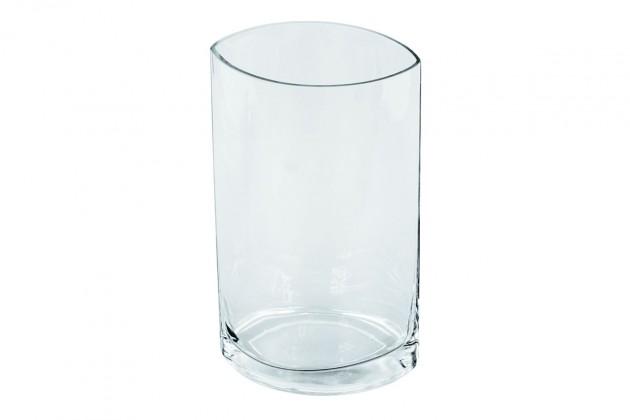 Obývacie izby ZLACNENÉ Sklenená váza VS10 (číra, 25 cm) - II. akosť