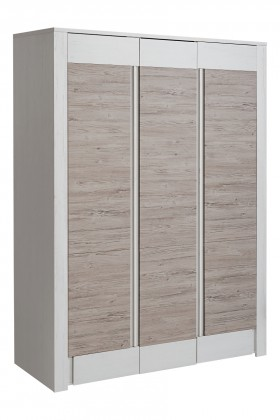 Obývacie izby ZLACNENÉ Skriňa Alvo - 3 dvierka (andersen white pine/andersen beige)