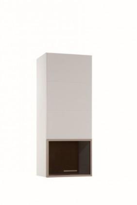 Obývacie izby ZLACNENÉ Závesná skriňa Corano - typ 71 (biela/dub) - II. akosť