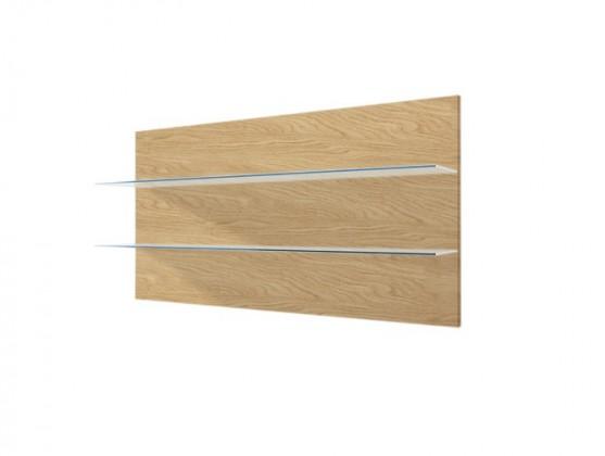 Obývacie izby ZLACNENÉ Závesný panel Corano - typ 09 (biela/dub) - VYSTAVENÉ