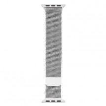 Oceľový magnetický remienok na Apple watch 38/40 mm, strieborný