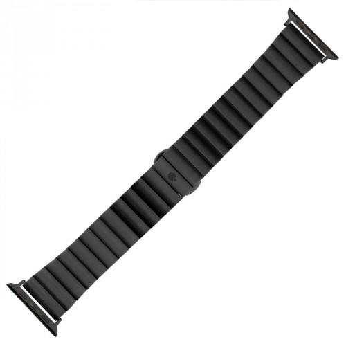 Oceľový remienok na Apple watch 38/40 mm, čierny