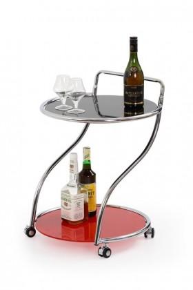 Odkladací stolík Bar 6 (Černo-červený)