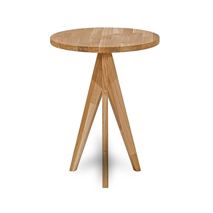 Odkladací stolík Feel - Odkládací stolek kulatý (dub/dub)