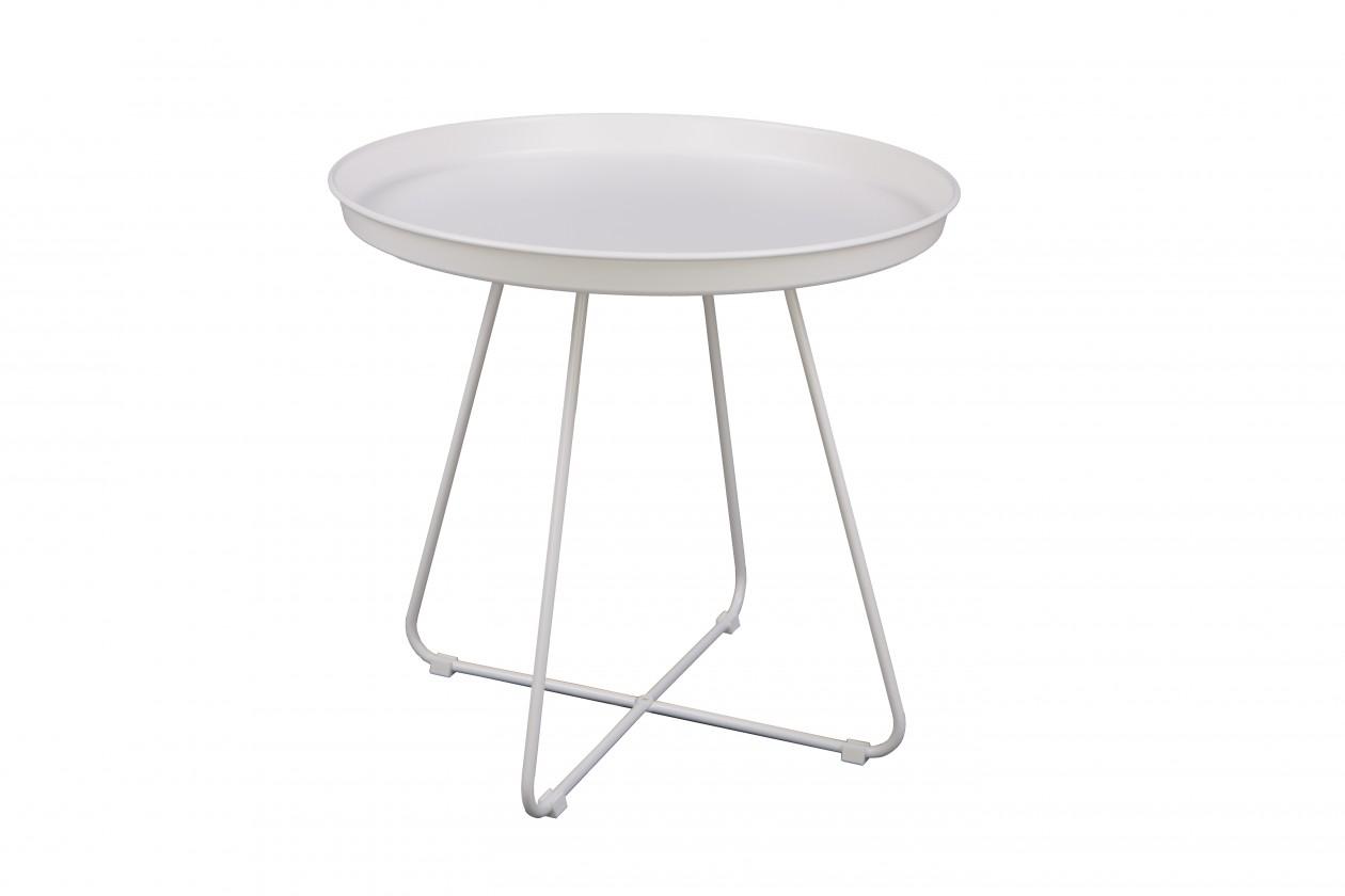 Odkladací stolík Konferenčný stolík Pogorze - L (biely)