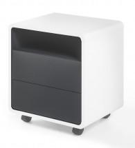 Odkladací stolík Naos (biela, antracit)