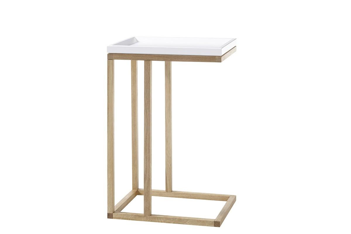 Odkladací stolík Prístavný stolík Juvena (biela)