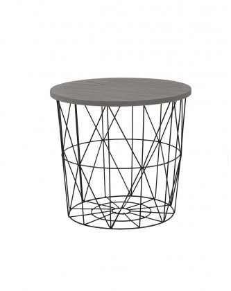 Odkladací stolík Prístavný stolík Mariffa (čierna/sivá)