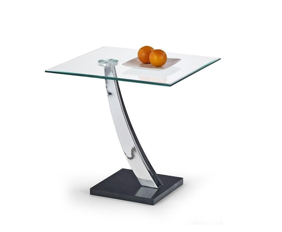 Odkladací stolík Serena (Sklo/chróm/Mramor)