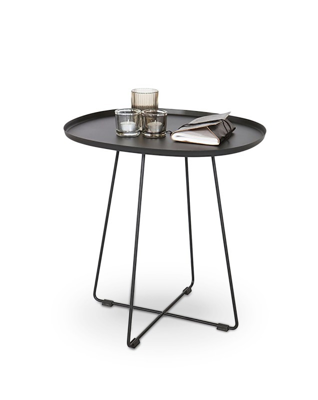 Odkladací stolík Tina - Konferenčný stolík ocelový čierny (čierna ocel)