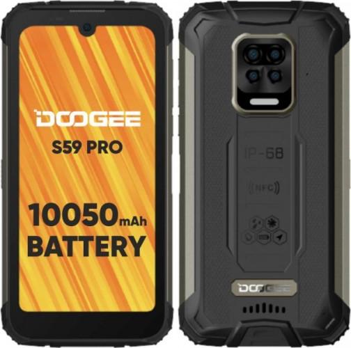 Odolný mobilný telefón Doogee S59 PRO 4GB/128GB, čierna