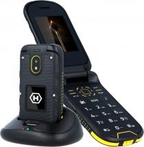 Odolný telefón MyPhone Hammer BOW PLUS, čierna/oranžová