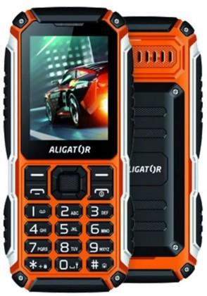 Odolný telefón Odolný tlačidlový telefón Aligator R30 eXtremo, IP68, oranžová